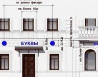 Вывеска на фасаде жилого дома и как выбрать правильную